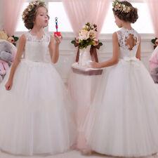 Kids Girls Toddler Holy Christening Wedding Party Bridesmaid Princess Prom Dress
