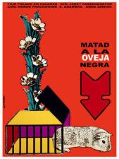 Matad a la oveja negra vintage movie POSTER.Graphic Design. WAll Art Decor.3468