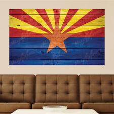 Arizona Flag Distressed Wood Vinyl Wall Decal Sticker Graphic Art - 4 Sizes