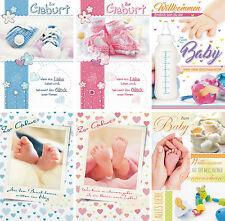 Tarjetas de felicitación para nacimiento Willkommen Bebé - 31-7501b