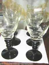 13616 6 Weißwein Weingläser Art Deco mundgeblasen white wine glass Violett 1930