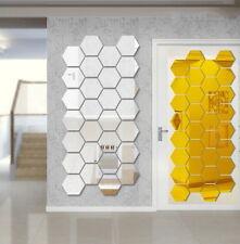 7er Set Spiegel Wabe Sticker sechskant Format Spiegelfolie Basteln Hobby Deko