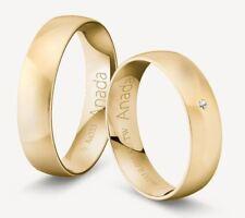 333 GOLD TRAURINGE  Gelb-, Rosé-  oder Rotgold - Sandmatt inkl. STEIN und GRAVUR