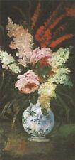 Vase With Gladio & Lilac Paris Van Gogh VG268 Repro Art Print A4 A3 A2 A1