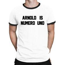 Arnold Is Numero Uno Mens RINGER T-Shirt Retro Birthday Gift