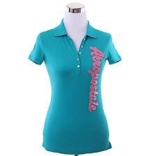 Aeropostale Women Aeropostale Script Jersey Polo Shirt Style 2791 -Free Shipping