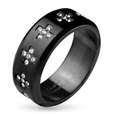 Coolbodyart Donna Uomo Anello Dito Anello Statement anello in acciaio inox Stainles...