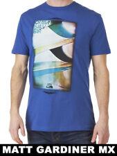 HOMBRE QUIKSILVER camiseta INDIVIDUAL ASPAS BLUE JAY playa camiseta azul marino