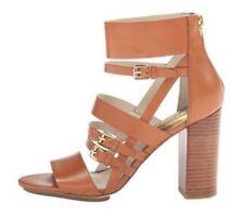 Mujer Zapatos Michael Kors Winston Sandalia de Tiras con Tacón Cuero Equipaje