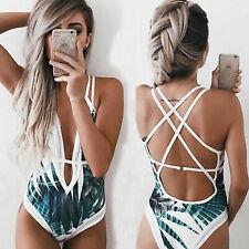 Damen Badeanzug Rückenfrei Monokini Push Up Gepolstert Pad Bikini  Schwimmanzug a8c7b33e7c