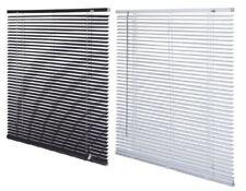 Multiple Size PVC Venetian Blind Drop 150cm Window Blind -  Easy Fit Black/White