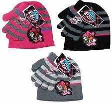 Filles monster high en tricot chapeau et gants set taille unique de 3 à 10 ans 780007