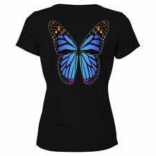 Tee shirt femme Lepidoptera Bleu