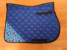 NEW BLUE BUBBLE DESIGN PADDED SADDLE CLOTH SHETLAND,PONY & COB