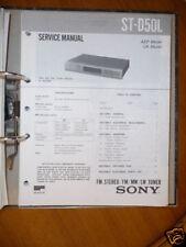 Service-Manual Sony ST-D50L Tuner,ORIGINAL