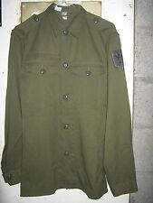 Austrian Army Shirt Grade 1 Military Eagle Detail Tough Green Large Buttons