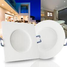 LED Einbaustrahler Feuchtraum Bad Dusche IP44 230V 35mm flach 5W Weiß MARINO