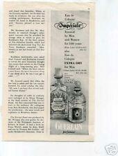 Guerlain Imperiale Perfume Ad 1950's Original Ad