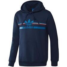Adidas Originals Trefoil Logo Hoody Blue 100% Authentic