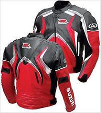 SUZUKI GSXR Moto Cuir Veste Sports Cuir Veste Hommes  Cuir Biker Veste EU 48-56