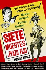 Poster. Cuban Film. Siete muertes a plazo fijo.Peliculas Cubanas.History Art 61i