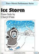 Ice Storm Piano Solo Cheryl Finn Sheet Music 2002