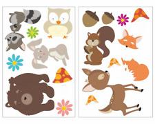 17-tlg Lustige Waldtiere Wandtattoo Set Kinderzimmer Baby  3 Größen