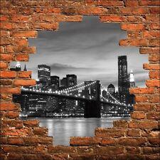 Adhesivo de Pared Trampantojo Trampantojo Puente de Metallbox New York 848