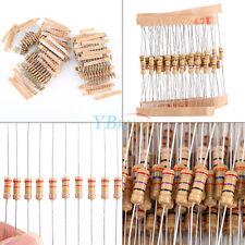 1000pcs 100value 1/2W Carbon Film Resistor Assortment Kit BT