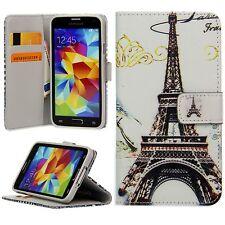Flip Schutz Handy Hülle Cover Kartenfach Case Klapp Etui Motiv Eiffelturm Paris