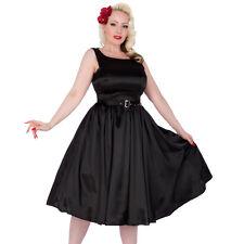 Vestido de Satén Negro 14 Vestido Rockabilly Swing Dress 12 10 Vestido Pinup 8 Wow!