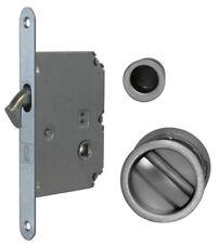 JV825 Sliding Pocket door bathroom lock set c/w 2 flush pulls & end finger pull