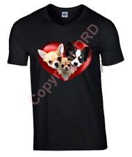 Chihuahua Heart Tshirt, 3 Chi T-shirt Crew Neck V Neck Birthday Gift
