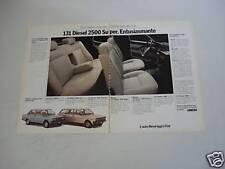 advertising Pubblicità 1979 FIAT 131 DIESEL 2500 SUPER
