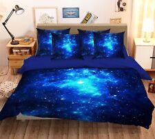 3D Blue Sky Galaxy 456 Bed Pillowcases Quilt Duvet Cover Set Single Queen CA