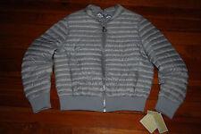 NEW Michael Kors Silver Lightweight Puffer Jacket w/ Down Fill (Small Medium L)