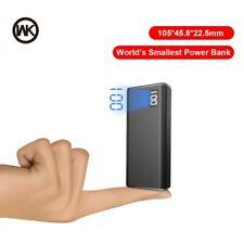 WK 3 entrée 2USB mini batterie externe 10000 mAh métal chargeur Portable 10000