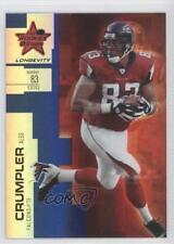 2007 Leaf Rookies & Stars Longevity Sapphire #28 Alge Crumpler Atlanta Falcons