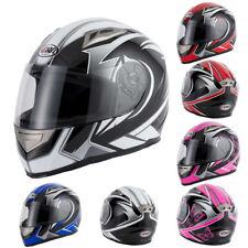 V-CAN V158 EVO Full Face Motorbike Motorcycle Helmet Graphics ACU Gold *NEW