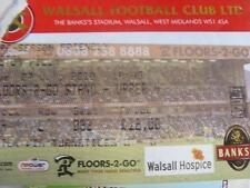 27/07/2010 Ticket: Walsall v Aston Villa [Friendly] (Corner Torn Off). No obviou
