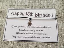 Happy 18th Birthday Wish * Wish Bracelet * Friendship * Gift * Greeting * Favour