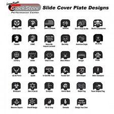 Custom Engraved Slide Cover Plates for All Glock Models