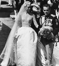 PRINCESS GRACE KELLY PRINCE RAINIER WEDDING DRESS PHOTO 8x10 FANTASTIC PICTURE