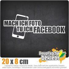 Foto tu ich Facebook csf0626 20 x 8 cm JDM  Sticker Aufkleber