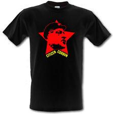 Jeremy corbyn ciudadano corbyn trabajo Estrella Roja De Algodón Pesado Camiseta small-xxl