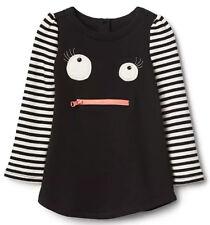 Baby Gap NWT Black White Stripe Monster Sweatshirt Dress 0-3-6-12-18 Months $35