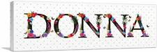 ARTCANVAS DONNA Girls Name Room Decor Canvas Art Print