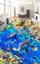 Corail Multicolore De Poisson 3D Sols Mural Photo Papier Peint Maison Imprimer