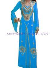 DUBAI BRIDAL KAFTAN MODERN JILBAB ARABIAN ISLAMIC GOWN WOMEN CLOTHING EDH 3032