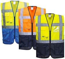 Portwest Warsaw Executive Hi Vis Vest With Multi Pockets And ID Holder C476